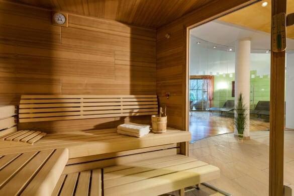 Sauna Innenansicht Gut Berg