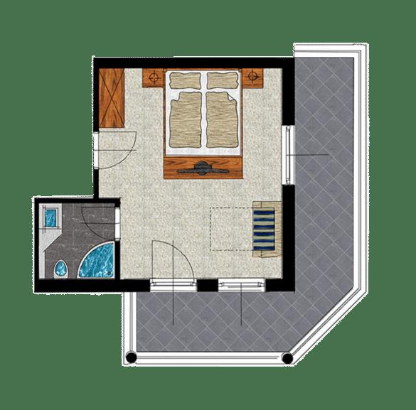 Grundriss Komfort Doppelzimmer
