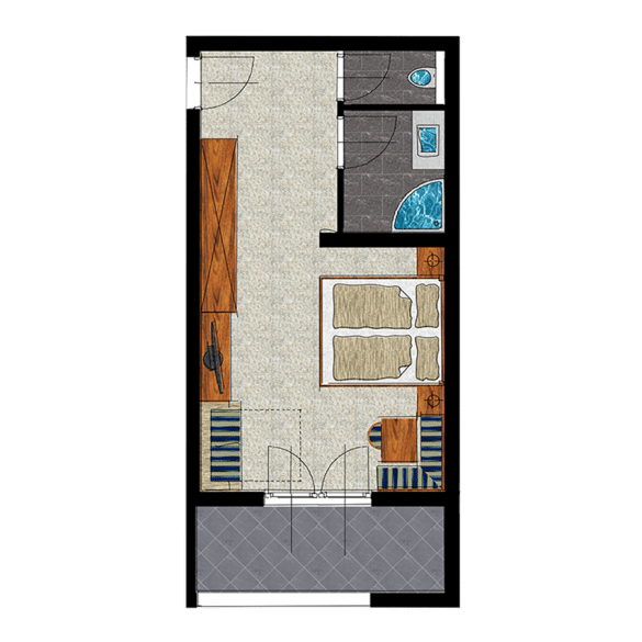 Landhauszimmer Grundriss