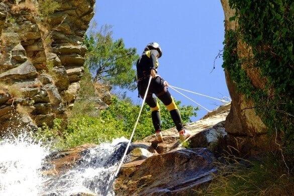 Wasserfall Abseilen