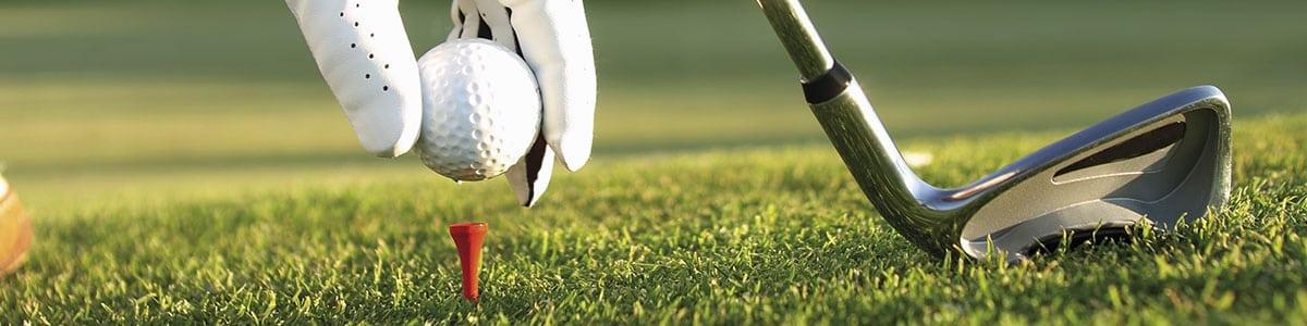 Golfball Nahaufnahme schmal