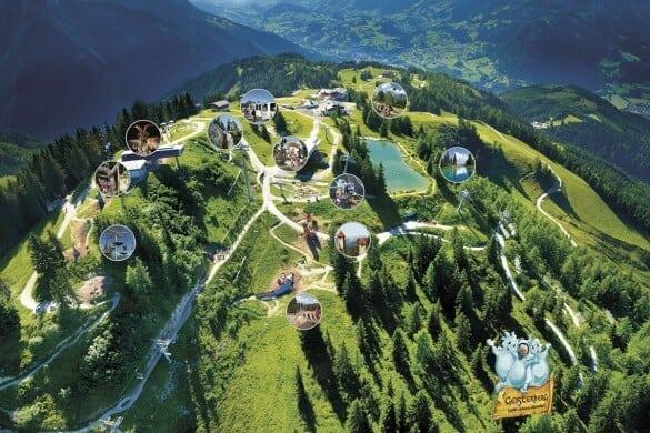 Skigebiet im Sommer