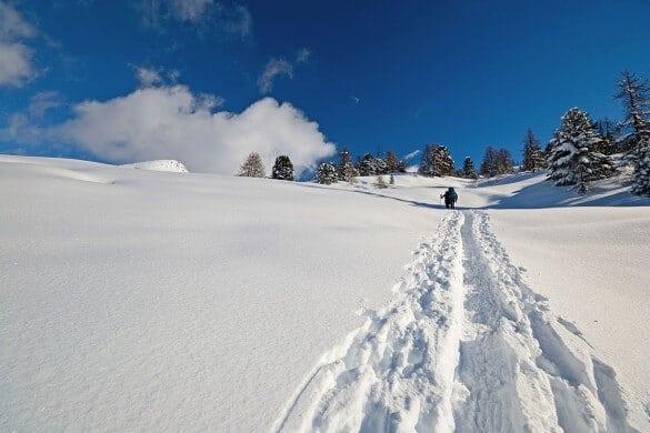 Schneewanderung