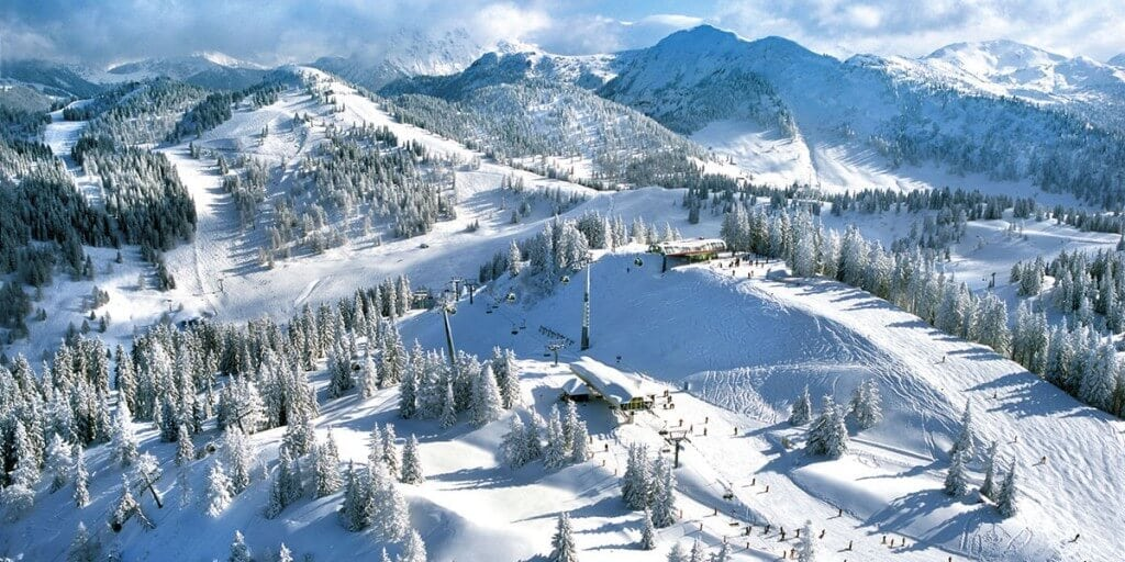 Skilandschaft von oben