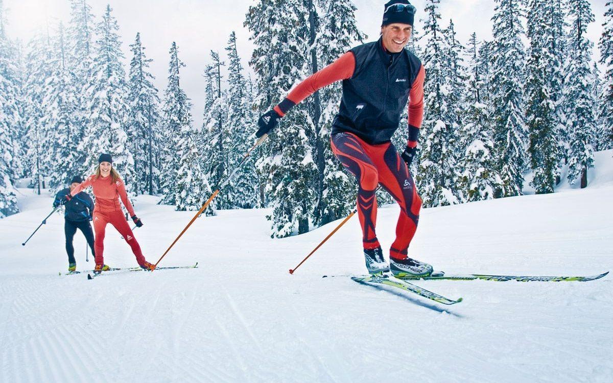 Langlauf Skifahrer