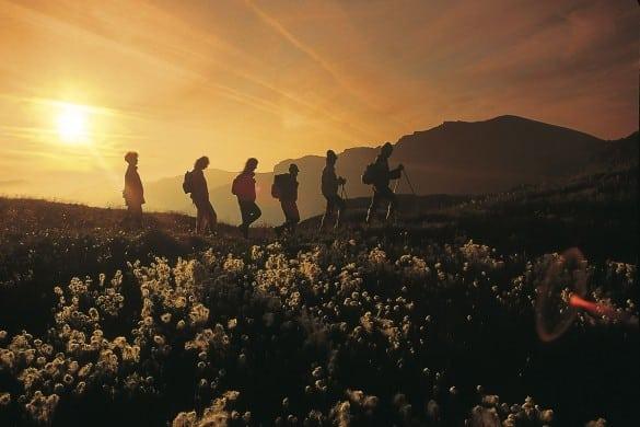 Wanderung bei Sonnenaufgang