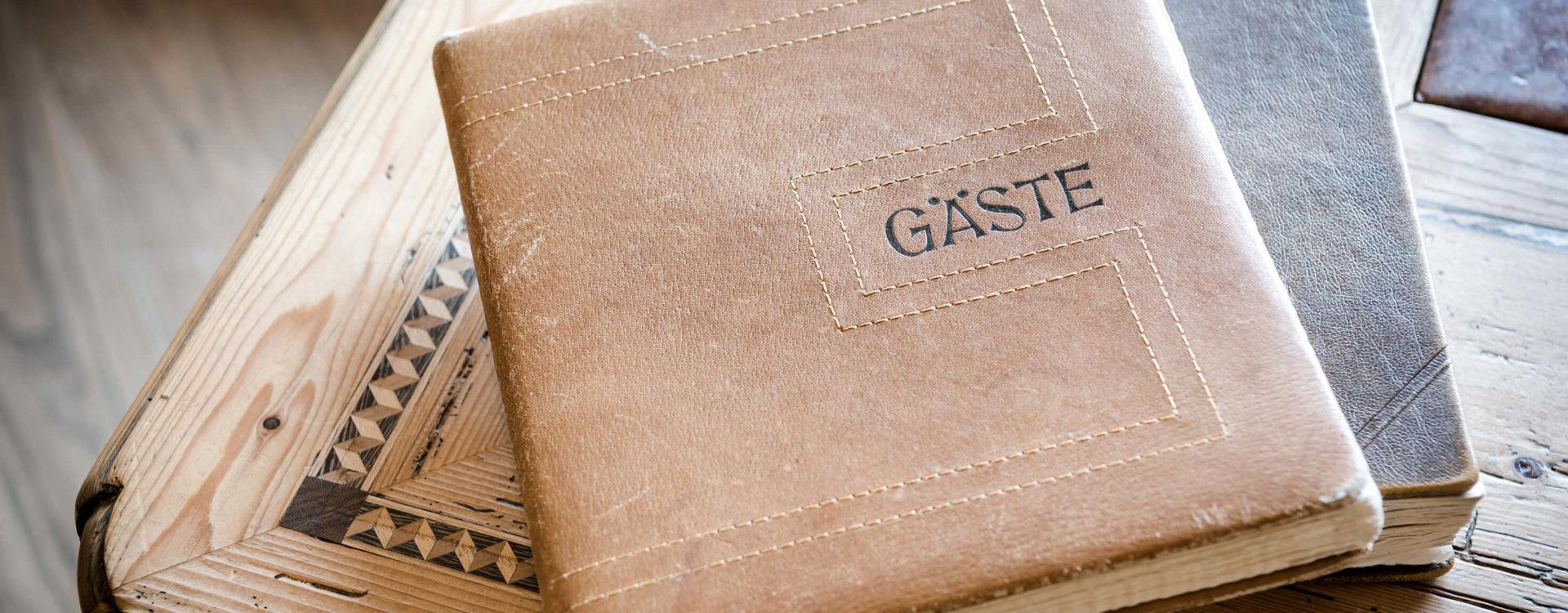 Gästebuch Leder Gut Berg