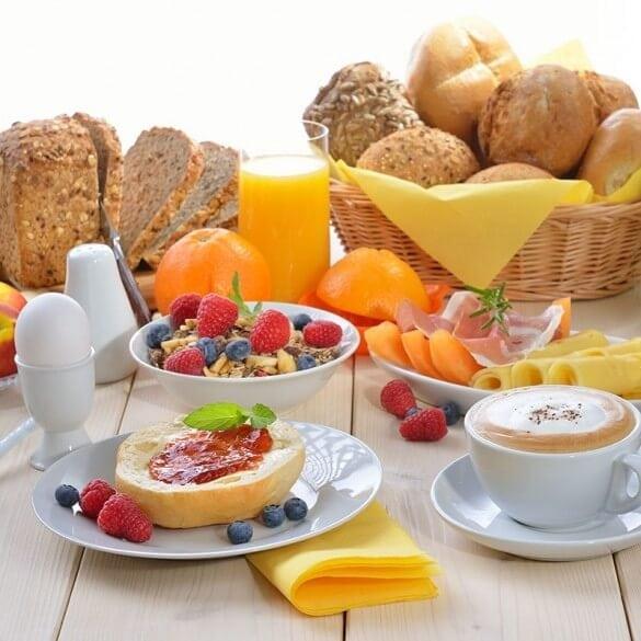 Frühstücksangebot Gut Berg