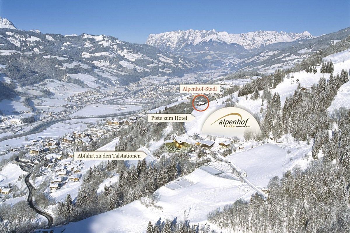 Lage des Hotels Gut Berg